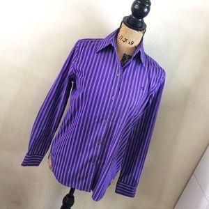 Purple Striped Ralph Lauren Button Up Small